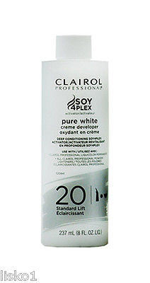 CREME DEVELOPER CLAIROL SOY4plex activator   20vol  8 oz.   Pure White Creme Developer    LMS