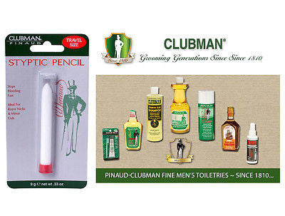 Clubman Pinuad Men's Shaving Styptic Pencil   (Travel Size)  .33 oz.