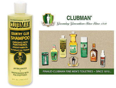 Clubman Pinuad Men's Country Club Hair Shampoo   16 oz.