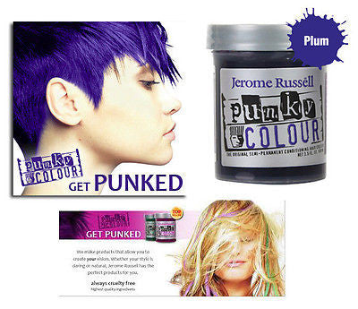 Jerome Russell Punky semi-permanent conditioning hair color,  3.5 oz.(plum)