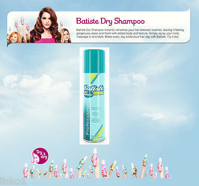 DRY SHAMPOO BATISTE (ORIGINAL) Dry Shampoo, Instant hair Refresher for all hair types, 5.5oz