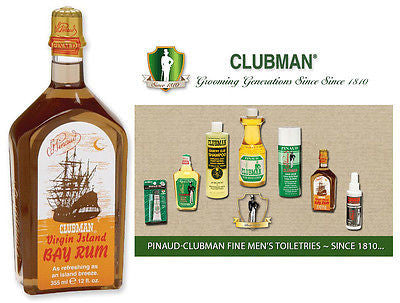 Clubman Pinuad Men's VIRGIN ISLAND BAY RUM Aftershave  12 oz.