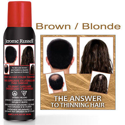 Jerome Russell   Spray - on Hair Thickener Spray   3.5oz.  ( brown / blonde )
