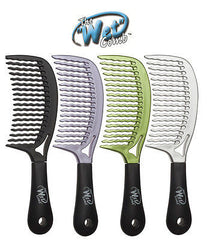 Luxor Professional The Wet Comb Hair Detangling shower comb, wavetooth  (green)