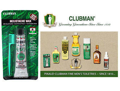 Clubman Pinuad Men's Moustache Wax  (BROWN)  1/2 oz.