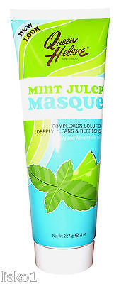 QUEEN HELENE  MINT JULEP  FACIAL MASQUE, Cleans & Refreshes skin 1- 8 oz. tube