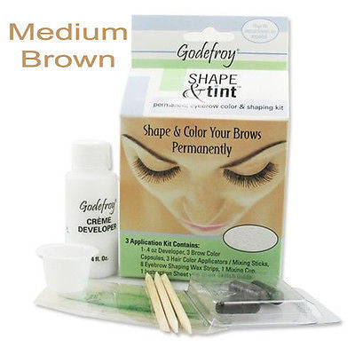 Shape & Tint Permanent Eyebrow color & shaping kit    (Medium Brown)