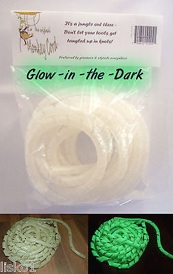"Cord Detangler + Protector, 10 feet long, 1/4"" diameter- Glow - in- the - Dark"