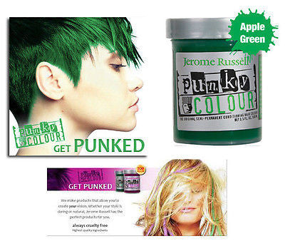 Jerome Russell Punky semi-permanent conditioning hair color,  3.5 oz.(apple gr )