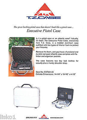 6c8998aa216f TZ case #AC77S Dual purpose molded aluminum , Pistol-Attache case, 2-key  locks