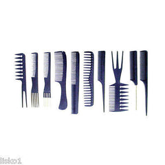 LUXOR- THE WET COMB  10-piece professional comb set     (blue)