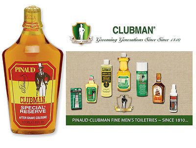 Clubman Pinuad Men's Special Reserve Aftershave Colonge   6 oz.