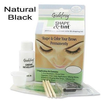 Shape & Tint Permanent Eyebrow color & shaping kit    (Natural Black)