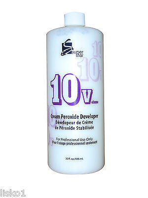 COLOR DEVELOPER 10 VOLUME SUPERSTAR STABILIZED  PEROXIDE  CREAM Hair Color DEVELOPER_32 OZ.