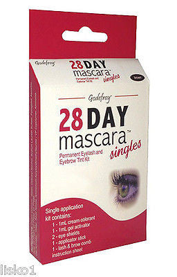 28 DAY MASCARA PERMANENT EYELASH TINT KIT COLOR (Black)