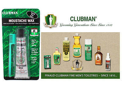 Clubman Pinuad Men's Moustache Wax  (BLACK)  1/2 oz.