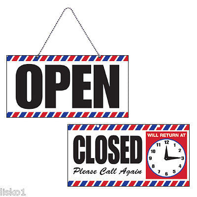 OPEN/CLOSED sign w/chain+ suction cup mount  /adjustable clock