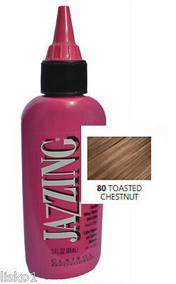 HAIR COLOR CLAIROL Jazzing Temporary Hair Color,  #80 Toasted Chestnut - 3 oz.   LMS