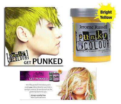 Jerome Russell Punky semi-permanent conditioning hair color,  3.5 oz.(yellow)