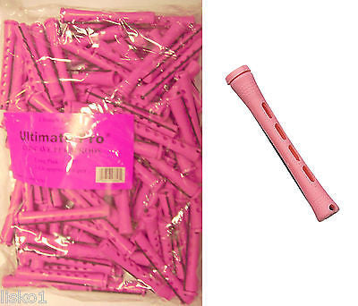 "PERM RODS 1 LB BAG, 3"" Long Pink Concave Hair Perm Rod  w/ elastic band       LMS"
