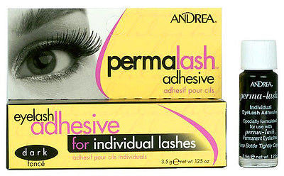 EYELASH ADHESIVE ANDREA PERMA-LASH ADHESIVE GLUE FOR INDIVIDUAL FALSE EYELASHES LASHES 3.5 CLEAR