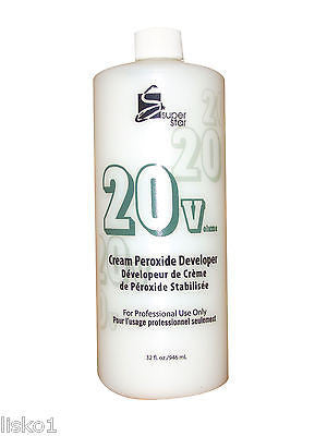 COLOR DEVELOPER 20 VOLUME SUPERSTAR STABILIZED  PEROXIDE CREAM Hair Color  DEVELOPER_32 OZ.