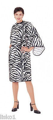 CUTTING CAPE ANDRE #1100 Zebra Hair cutting Snap Cape, Xtra-Large,Silky Polyester        LMS