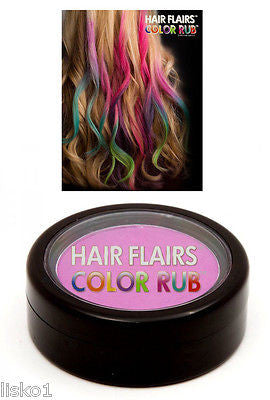 HAIR CHALK Hair Flairs Color Rub, Temporary Vibrant Fun Hair Colors   .14 oz. (violet) LMS