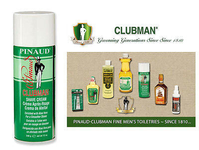 Clubman Pinuad Men's Classic Foaming Shaving Cream  12 oz.