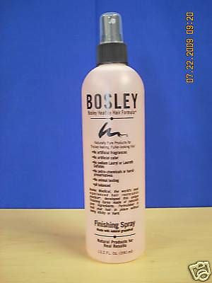 BOSLEY 13.2 OZ  HAIR FINISH SPRAY, 12 BOTTLES,$75.00