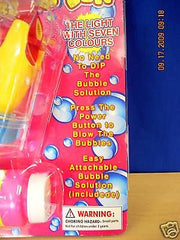 BUBBLE GUN 1-Kids outdoor Flashing Blowing Bubble Gun, Soap included, Flashing Colors