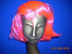 HOLIDAY SYNTHETIC PINK MEDIUM  LENGTH,STRAIGHT FULL WIG, GREAT COSTUME ACCES. E