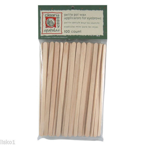 WAX APPLICATOR STICKS CLEAN & EASY #41105 PETITE WOOD APPLICATOR STICKS 100 COUNT