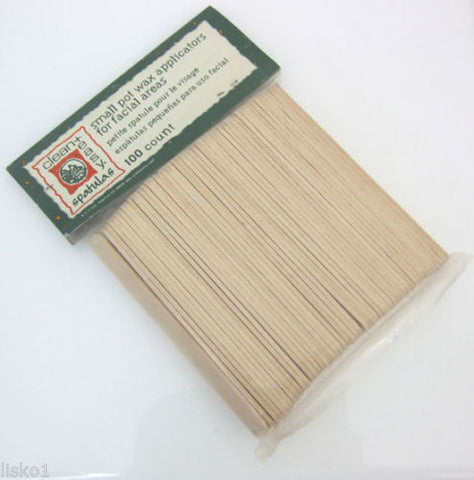 WAX APPLICATOR STICKS CLEAN & EASY #4102 SMALL WOOD APPLICATOR STICKS 100 COUNT