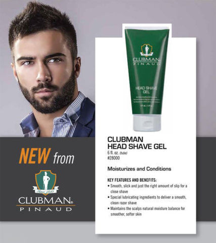 HEAD SHAVE GEL FOR SCALP BY CLUBMAN PINAUAD