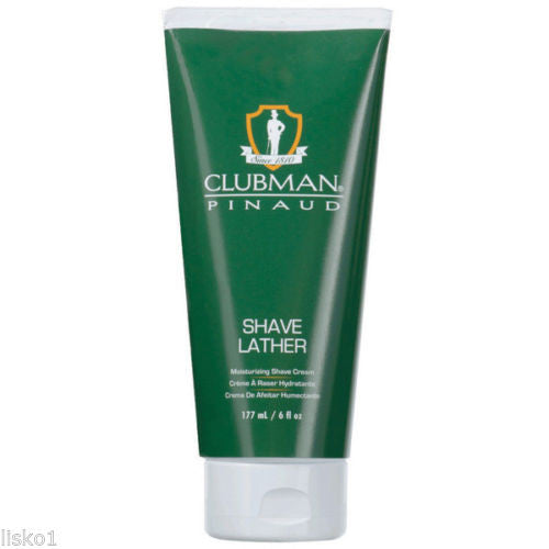CLUBMAN PINAUD SHAVE LATHER MOISTURIZING CREAM 177 ML / 6OZ.