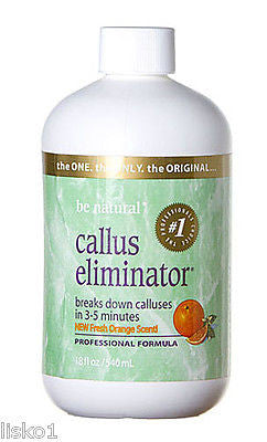 CALLUS ELIMINATOR BE NATURAL CALLUS ELIMINATOR CALLUS REMOVER, PEDICURE, FEET, ORANGE SCENT 18 OZ