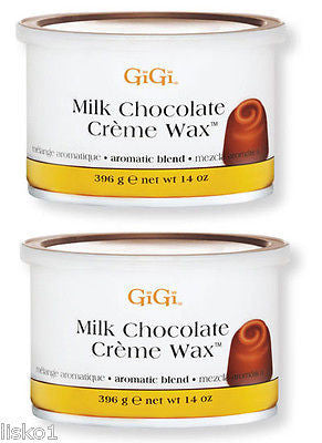 GIGI MILK CHOCOLATE CREME WAX FOR HAIR REMOVAL    2_ 14OZ. CANS
