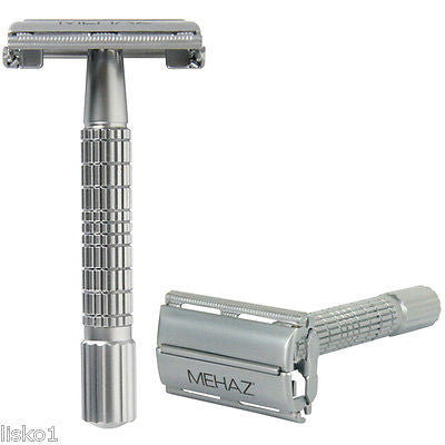 MEHAZ #1197  Classic Double Edge Men's Safety Razor, Chrome Plated, All Metal