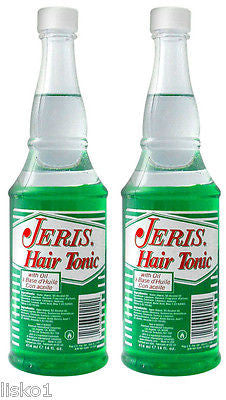 JERIS HAIR TONIC (WITH  OIL) BARBER SIZE    2 _ 14.OZ. BOTTLES