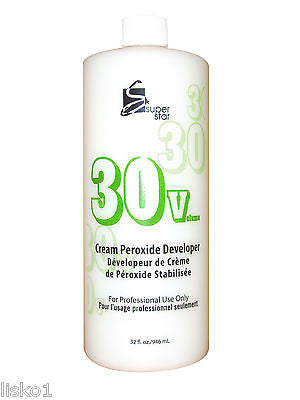 COLOR DEVELOPER 30 VOLUME SUPERSTAR STABILIZED  PEROXIDE  CREAM Hair Color  DEVELOPER_32 OZ.