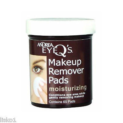 MAKE UP REMOVER ANDREA EYE-Q's_ MOISTURIZING  MAKE - UP  REMOVER  PADS_ 65 PADS  PER JAR
