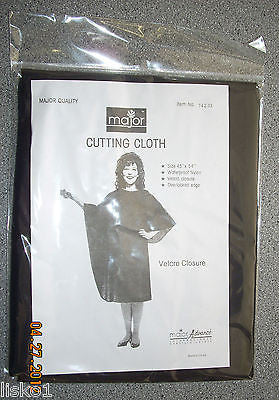"MAJOR  CUTTING CLOTH/ CAPE WATERPROOF NYLON , VELCRO 45"" X  45""  BLACK"