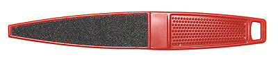 FOOT FILE  DIANE #934 SALON DOUBLE SIDED HEAVY DUTY  PEDICURE RED FOOT FILE, 80 GRIT