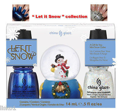 "CHINA GLAZE ""Let It  Snow""  X-mas collection, Gift or Stocking stuffer      LMS"
