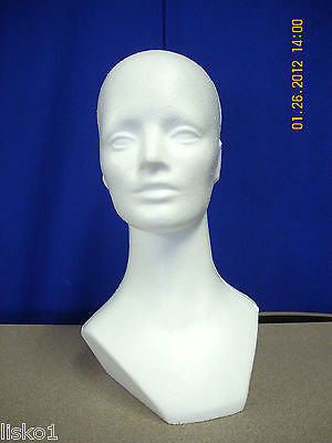 "WHITE DELUXE #865  (15-1/2"" TALL ) STYROFOAM MANNEQUIN COSTUME DISPLAY"