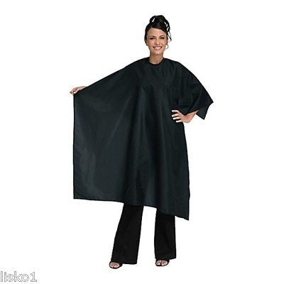 CUTTING CAPE BETTY DAIN #199-V VELCRO WHISPER BLACK HAIR STYLIST CUTTING CAPE