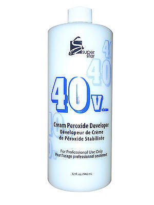 SUPERSTAR 32oz. 40 vol stabilized cream peroxide developer for hair bleaching