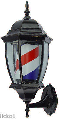 YANAKI  #YA2110  _ COACH STYLE BARBER POLE,ALL METAL ,SPINS & LIGHTS,TRADITIONAL