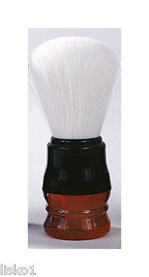 SHAVE BRUSH Harry Koenig  #SB-839  RED HANDLE ANIMAL FRIENDLY NYLON BRISTLE SHAVING BRUSH